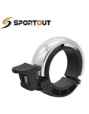 Sportout Innovatieve fietsbel, aluminiumlegering, fietsring met luid, helder helder helder, voor sturen van 22,2 tot 31,8 mm