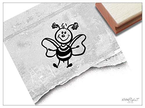 Stempel Tierstempel Biene Bienchen - Kinderstempel Geschenk für Kinder Kita Kinderzimmer Schule Einschulung Geburtstag Basteln Deko - zAcheR-fineT