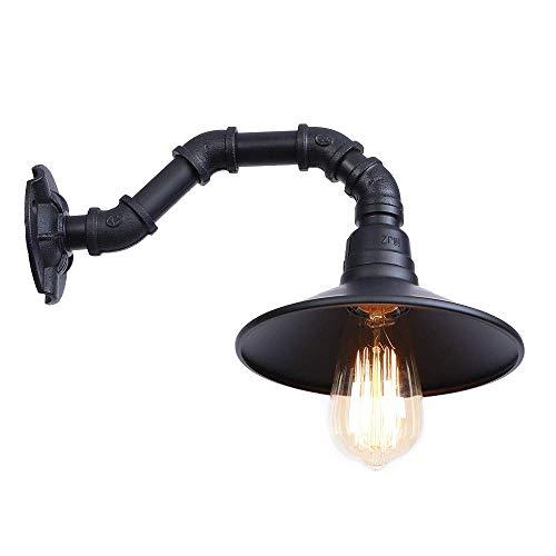CHOUCHOU Apliques Pared Metal de la Vendimia Industrial Loft de tuberías de Pared de luz de la lámpara Retro Steampunk por un Dormitorio Baño de Noche Lámparas de Pared 1234