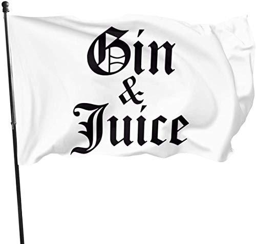 suizhoufa Flagge/Fahne Gin & Juice Decorative Garden Flags Outdoor Artificial Flag for Home Garden Yard Decorations 3x5 Ft