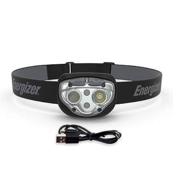 Lampe frontale rechargeable Energizer Vision Ultra HD, 400 lumens, résistance à l'eau IPX4, lampe frontale LED puissante avec batterie rechargeable, éclairage intérieur et extérieur, batterie incluse