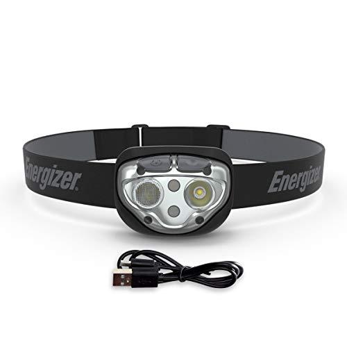 Linterna frontal recargable Energizer Vision Ultra HD, 400 lúmenes, IPX4 de resistencia al agua, linterna frontal LED brillante, batería recargable, linterna de interior y exterior, batería incluida