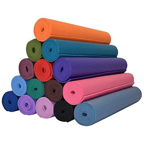 takestop Tappeto Tappetino 183x61 CM Doppio Spessore 6 mm per Aerobica Fitness Yoga Palestra Stretching Allenamento Colore Casuale