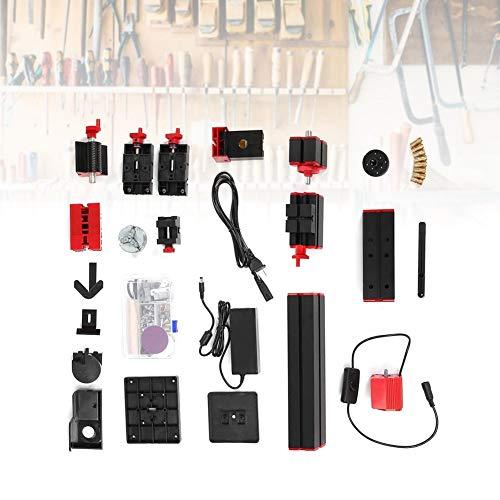 6 en 1 Mini Torno, Amoladora de Rompecabezas Motorizada, Juego de Máquina de Mini Torno Multiuso, para el Ensamblaje de Bricolaje de la Máquina de Aserrar, Amoladora, Perforadora, Torno de Madera,