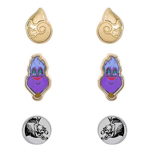 Disney Villains Ursula Stud Fashion Earrings Set of 3 Pairs