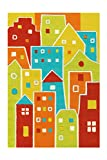 Arte Espina Alfombra Spirit Glowy 3139 Multi Houses 110 x 160 cm