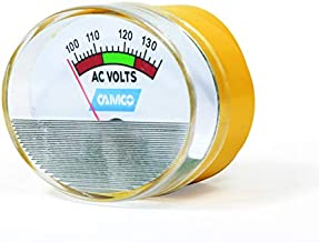 Camco PowerGrip 120V Meter – Provides Continuous and Accurate Reading of Your AC Line Voltage, Easy to Install and Use (55263)