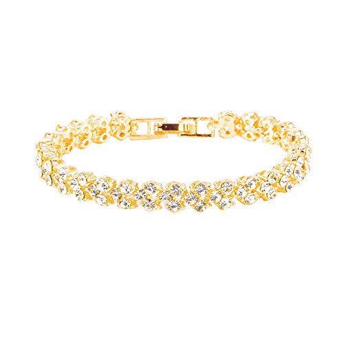HINK Womens Bracelets , Women Fashion Roman Style Woman Sterling Silver Diamond Bracelets , Jewelry & Watches for Christmas