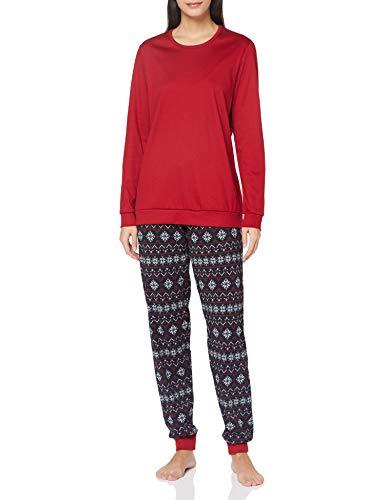CALIDA Damen Family & Friends Pyjamaset, Dark Lapis Blue, M