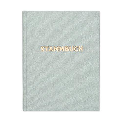bigdaygraphix Stammbuch der Familie Familienstammbuch Hochzeit Mint Roségold mit Prägung Format 16x21cm