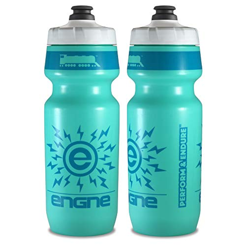 NGN Sport - High Performance Bicycle | Bike Water Bottle for Triathlon, MTB, and Road Cycling - 24 oz (2-Pack) (Turquoise/ Teal (2-Pack))