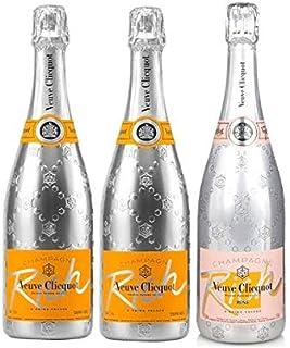 Lot trio champagne Veuve Clicquot Rich X2 y rico rosa