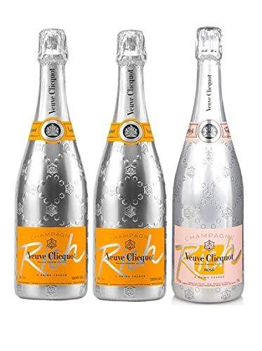 Lot Trio Champagner Veuve Clicquot Rich X2 Pink Rich