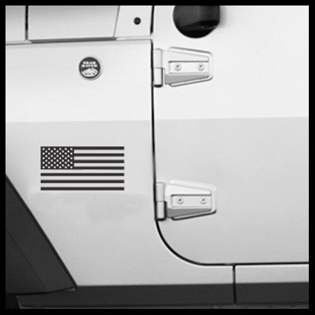 USA American Flag Sticker for Jeep Wrangler/Cherokee JKU JK TJ YJ CJ XJ (Pair)