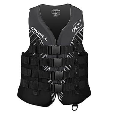 O'Neill Men's Superlite USCG Life Vest,Black/Black/Smoke/White,Medium