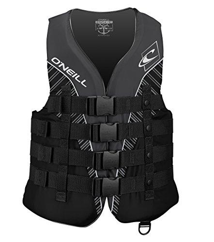 O'Neill Men's Superlite USCG Life Vest,Black/Black/Smoke/White,X-Large