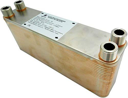 """Edelstahl Wärmetauscher Plattenwärmetauscher NORDIC TEC Ba-23-50, 210kW, 50 platten, 3/4"""""""