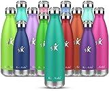 KollyKolla Borraccia Termica - 750ml 500mL 350mL 650ml Alluminio Bottiglia Acciaio Inox Acqua Termos da Viaggio per Portatile Inossidabile Borracce Termiche