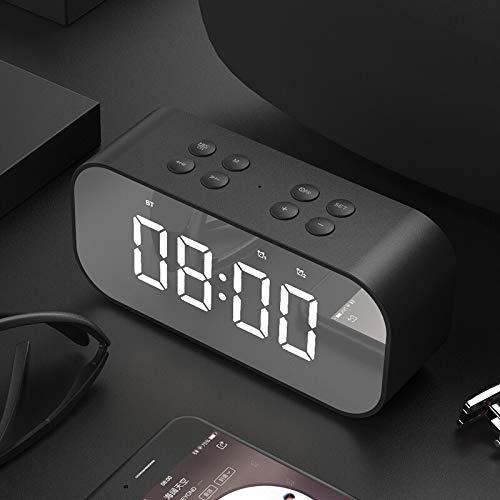 Metermall Home Wekker met draadloze Bluetooth-luidspreker Nachtlampje Slaapkamer Keuken Kantoor