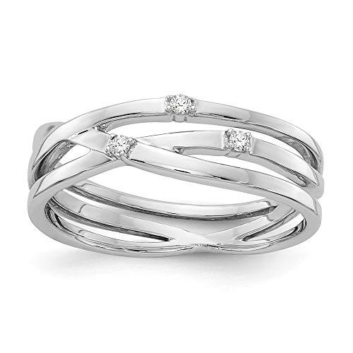 Anillo de diamante de 03 quilates de peso en color blanco pulido, tamaño N 1/2, joyería regalo para mujer