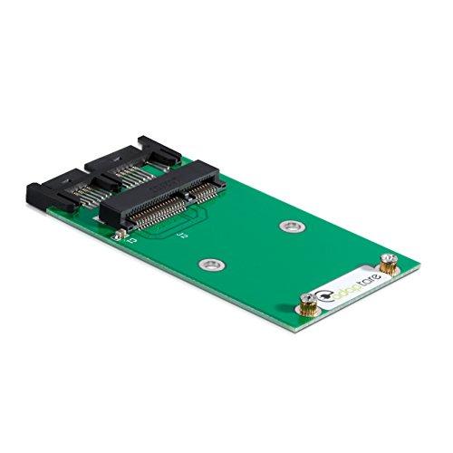 adaptare 40355 Adapter mSATA-SSD an Micro-SATA-Controller 7+9-polig