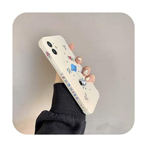 Funda de silicona suave para iPhone 11 Pro 12 Mini X XR XS Max SE 2020 Planet Star Bumper On 7 8 Plus a prueba de golpes T5-para iPhone 11
