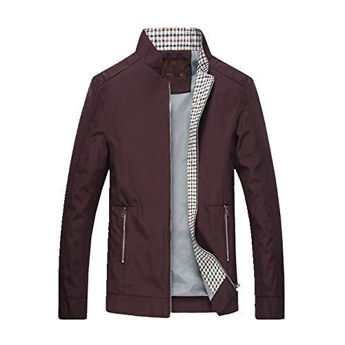 Primavera y verano delgada capa de los hombres chaqueta cortavientos bolsillo cortavientos de los hombres cortavientos - rojo - X-Large