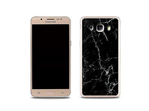 etuo Custodia per Samsung Galaxy J5 (2016), in marmo nero