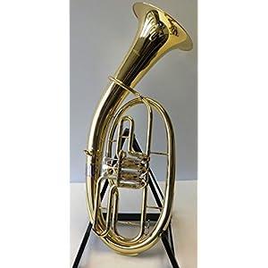 SYMPHONIE Westerwald Tenorhorn/Tenor Horn Gold/Silber, Minibalgelenk, inkl. Luxus-Hartschalenkoffer, Neu