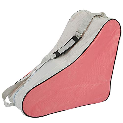 YOFASEN Bolsa para Patines - Unisex Adulto Durable Skate Bag Bolsa para Patines de Hielo y Patines de Linea, Rosa, 42 * 20 * 39cm