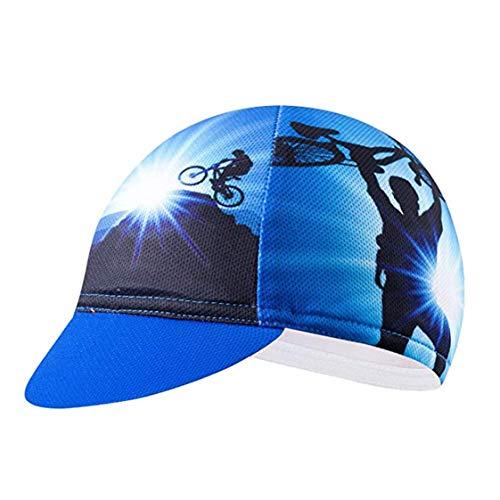 Weimostar Cappelli Da Ciclismo Uomini Donne Strada MTB Bicicletta Cappelli Blu, Uomo, Tappo 1., Taglia unica