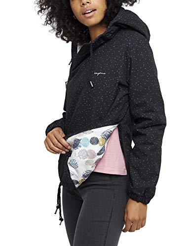 mazine Damen Windbreaker Jacke Backbeat, Farbe: Black Snow, Größe: M