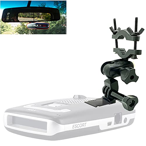 Easy Install Car Rearview Mirror Radar Detector Mount for Escort Max / Max 2 from 2015-2019 Radar (THIS IS NOT FOR MAX360C or the 2020 revised MAX3 that use MAGNETIC dock radar)