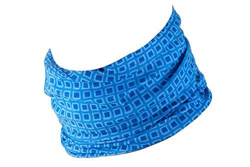 Hilltop Multifunktionstuch/Motorrad Halstuch/Looptuch/Bandana mit vernähten Saumkanten, M.Tuch:Blue Mosaic