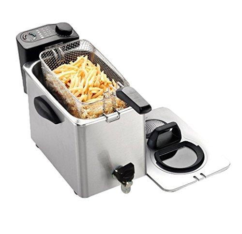 RGV Fry Type4 Friggitrice Elettrica con Rubinetto per lo Scarico Olio, 4 Litri