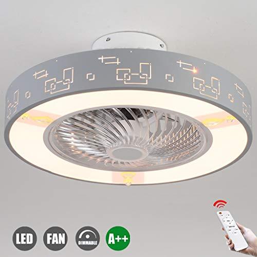 Lámpara De Techo Con Iluminación LED Control Remoto Ventilador De Techo Silencioso Ventilador Luz Regulable Velocidad Del Viento Lámpara De Techo Habitación Para Niños Dormitorio Sala De Estar,D