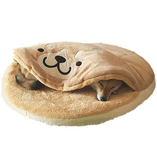 LLSL Estera De Perro De Engrosamiento De Dorayaki Creativo, Estera De Dormir De Mascota Redonda Multifuncional, Mantenga Cálido Doghouse Lavable (85 * 8Cm)