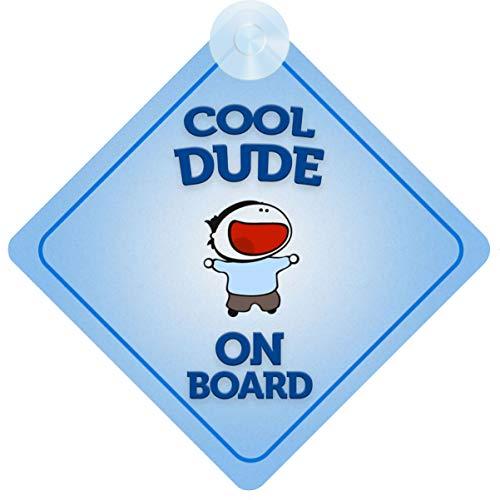 mybabyonboard UK Cool Dude on Board Autoschild für Kinder/Baby Jungen, nicht personalisierbar