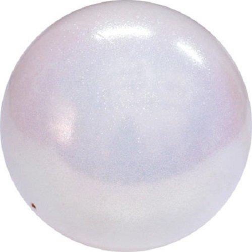 Pastorelli GLITTER HV - Pelota de gimnasia rítmica (18 cm), blanco