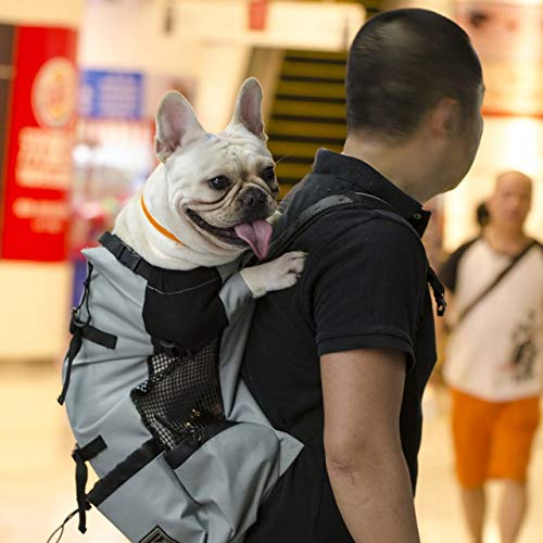 SGFEHAN Mochila para Mascotas Perro de Mascota Ajustable Viaje Mochila al Aire Libre for IR de excursión en Bici reflexiva Carrier Bolsa for Perros Bulldog Francés Amasado Llevar Bolsas