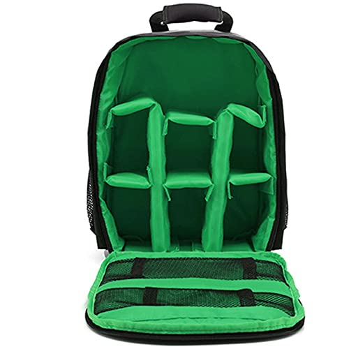 MVPACKEEY, borsa per fotocamera, accessori per fotografia, zaino impermeabile resistente, semplice per uso digitale all'aperto (verde)