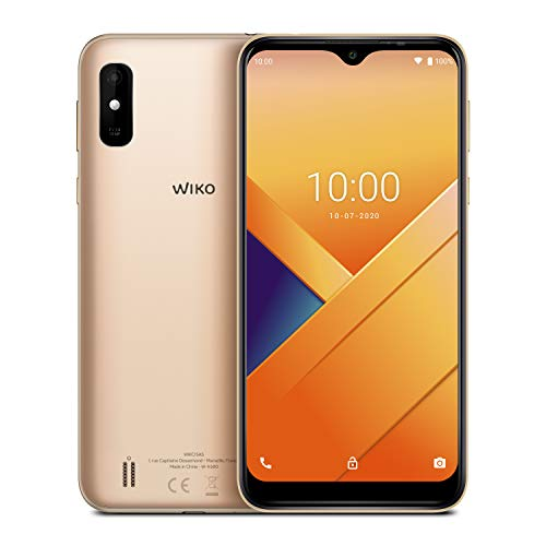 """Wiko Y81 Smartphone débloqué 4G (Ecran immersif 6.2"""" - 32 Go Extensible à 256 Go - Batterie 4000 mAh 2 Jours d'utilisation - Double Nano-SIM) Gold"""