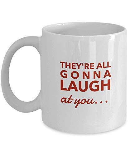N\A Todos se Van a reír de ti Taza de café Cita de la película de Carrie Taza de la película de Stephen King Cita de Piper Laurie Cita de la película de Terror Taza de los años 70