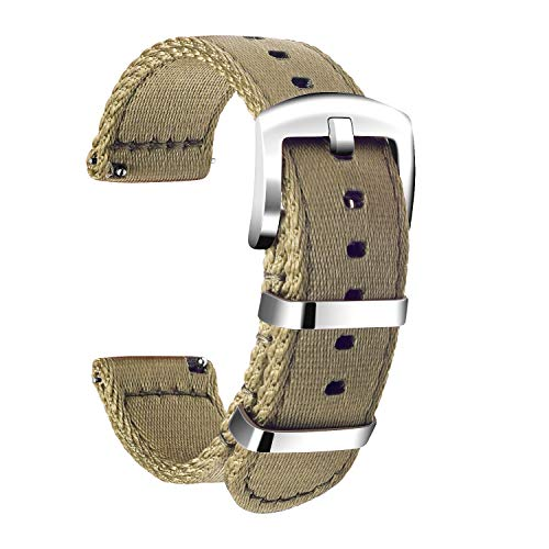 Ullchro Nylon Correa Reloj Calidad Alta Correa Relojes Militar del ejército - 18mm, 20mm, 22mm, 24mm Correa Reloj con Hebilla de Acero Inoxidable (22mm, Beige)
