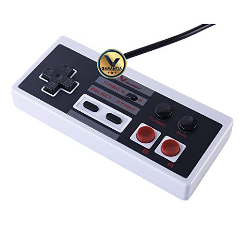 Virtual Zone Control Genérico Compatible con Mini NES - Cable de 3 Metros y 2 Botones Turbo
