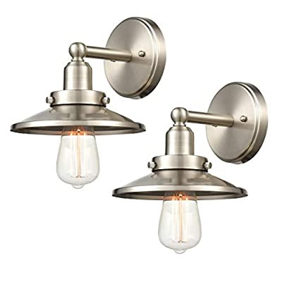 WILDSOUL Vintage Classic Edison Copper Sconce, LED Compatible Industrial Modern Farmhouse Vanity Wall Light Fixture with Bulb