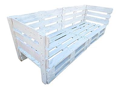 2 x SOFÁS realizados con palets de madera de 2 plazas para Conjunto de Palets MATERIAL : Nuestros sofas son fabricados con PALES EUROPEOS seminuevos ( con tratamiento anti hongos e insectos ), con lijado previo y pintados con pintura apta para INTERI...
