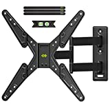 USX-MOUNT Langer Arm TV Wandhalterung für 26-55 Zoll LED, OLED and 4K TVs, TV Eckhalterung max.VESA 400 * 400mm bis zu 40Kg -Drehbar/Schwenkbar/Neigbar