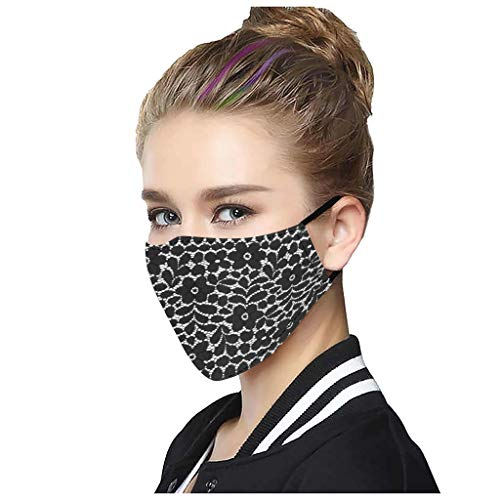 Review AFROTYE 5PCs General Breathable Multi-Purpose Sexy Cute Washable Lace Mack,Fashion Protective...