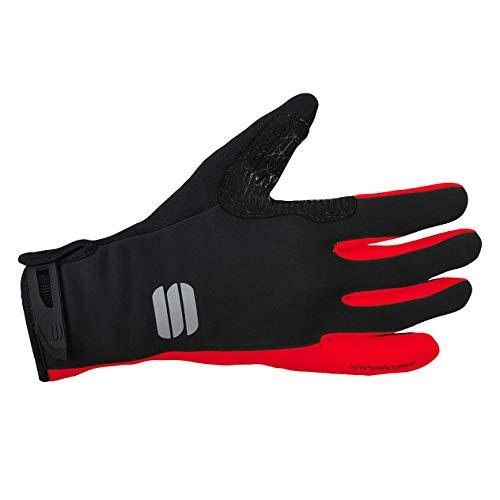 Sportful - Guantes WS Essential 2 Glove, Color Negro/Rojo, Talla L